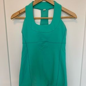 Lululemon Scoop Neck Workout Tank - teal